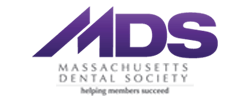 The Massachusetts Dental Society Logo indicates that our dentists in Woburn are members